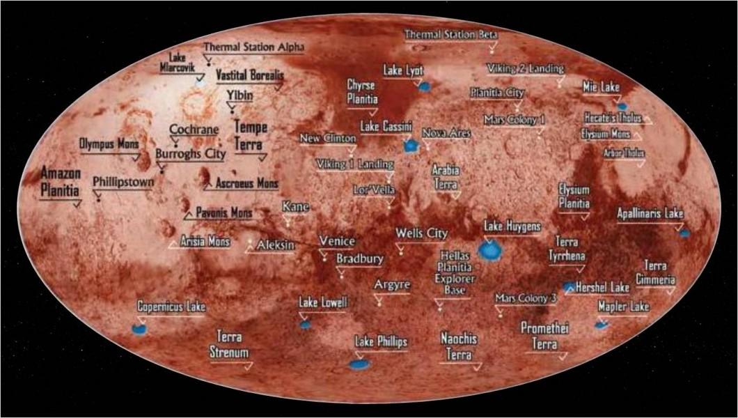 mars planet map hi res - photo #25